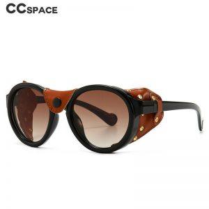 46311 Steam Punk Oval Windproof Goggle Sunglasses Men Women Fashion Shades UV400 Vintage Glasses