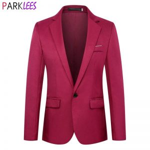Red Wedding Groom Blazer Men 2020 Fashion One Button Mens Blazers Slim Fit Formal Business Casual Blazer Male Blazer Hombre 6XL