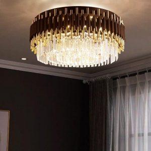 Luxury Crystal Chandelier Lighting For Living Room lustre led moderne