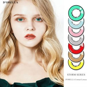 D'ORELLA 1 Pair(2pcs)  STORM series Coloured Contact Lenses for Eyes Cosmetic Cosplay Contact Lens Eye Color