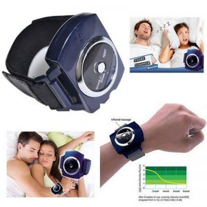 Agdoad Infrared Smart Snore Stopper Stop Snoring Wristband Watch Anti Snoring Sleeping Aid Biosensor Snore-ceasing Health Care