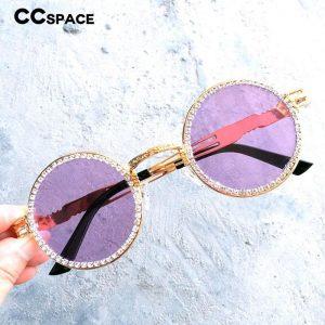 47191 Round Luxury Pearl Diamond Sunglasses Men Women Fashion UV400 Glasses