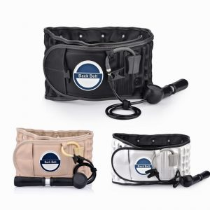 Inflate Lumbar Decompression Waist Belt Spin Traction Health Physio Back Support Brace Pain Relief Spine Back Posture Correction