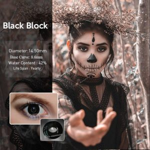 2pcs/Pair Circle Block Halloween Cosplay Colored Contact Lenses for Eyes Anime Lenses Colorful Contact Lenses for Eye Color Lens