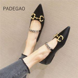 2020 Women Shoes Sexy Luxury OL Flats Shoes for Women Fashion Casual Elegant Women Flat