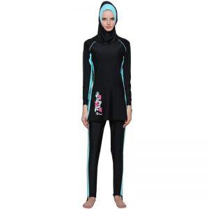 Plus Size Modest Muslim Women Musulman Full Cover Conservative Swim Wear Burkinis Swimwear Hajib Islamic Swimsuit For