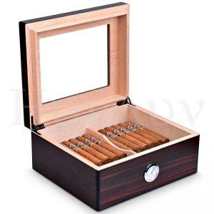 Humidor Box Cedar Wood Humidor Box with Humidifier Humidifier CLA-20EAA Can hold about 50 cigars