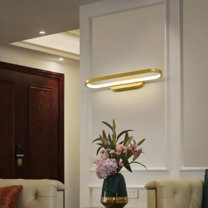 LED Wall Lamp for Bedroom Bedside Brass Interior Sconce Light In The Corridor Aisle Home Modern Indoor Decoration Light Fixture