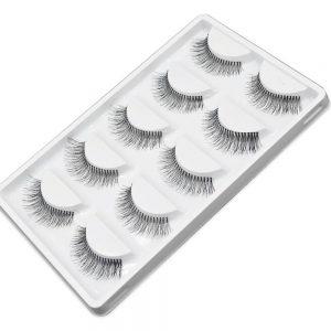 5 Pairs/lot Natural Sparse Cross Eye Lashes Extension Makeup Long False Eyelashes