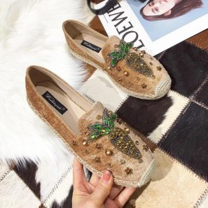 2019 Spring Autumn Espadrille Women loafers straw fisherman Flats Shoes Hemp Bottom Fisherman Soft Genuine Leather Insole Female