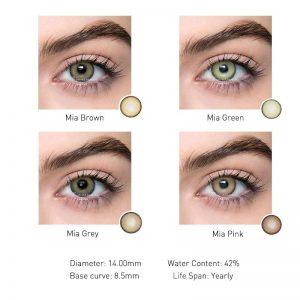 2pcs Mia Seriers Colored Contact Lenses Eye Year Toss Contact Lenses Color Cosmetic Contact Lens for Eyes 2020 Bio-enssence