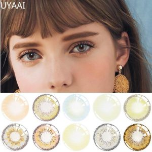2pcs(1Pair) Yearly Color Contact Lenses for Eyes Athena Seriers lenses for eyes blue Fashion Colored lens Natrual UYAAI