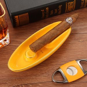 GALINER Cigar Ashtray Portable Boat Shape 1 Holder Ash Tray Outdoor Creative Travel Pocket Smoking Accessories Cendrier Home