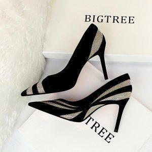 2020 sexy high heels shoes women brand design high heels night club rhinestone women pumps high heels party wedding shoes heels