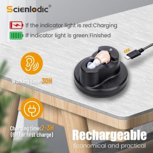 ITE Hearing Aid Hearing Device Rechargeable Hearing Amplifier Ear Hearing Aid for The Elderly Sound Amplifier for Hearing Loss