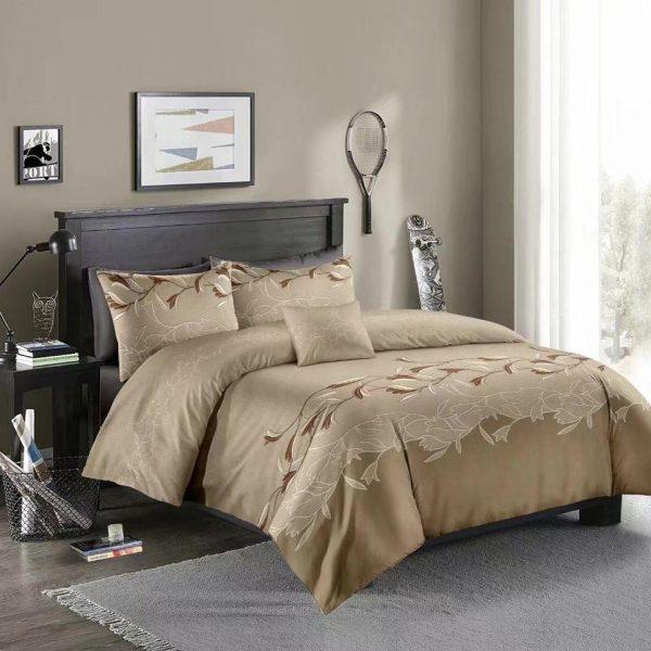 Luxury Lace Solid Color Bedding Set 3pcs Duvet Cover Set Pillowcases Bedclothes Comforter Bedding Sets
