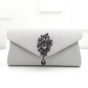 Double Flower Women Fashion Glitter Envelope Clutch Purse Evening Bags Ladies Party Cocktail DInner Diamond Handbags