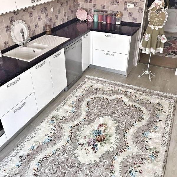 Pamuklife Artificial Leather Based Non Slip Base Carpet Almira Modern Super Soft Carpet Washable Daily Fashion Style