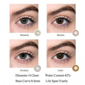 2pcs Smoky Series Colored Contact Lenses Eye Natural Contact Lenses Color Contact Lens for Eye lentes de contacto Bio-essence