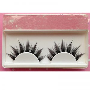 Natural Long Cosplay Makeup Cross Strip False Eyelashes Black Eye Lashes 1/5pair