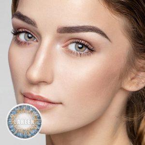 LAREEN 2pcs/pair Colored Contact Lense 3 tone Series Eye Contact Lenses Color Contact Lens for Eye Cosmetic Contact Lens Makeup