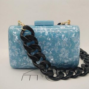 2020 Brand Fashion Women Evening Bags Pink Blue Cute Handbags Luxury Party Prom Acrylic Bags Woman Wedding Bride Casual Clutch