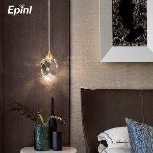 Epinl Luxury Diamond Crystal Copper Light Chandeliers Dining Room Bedroom Living Restaurant Lamp Hotel Villa Light Home Decor