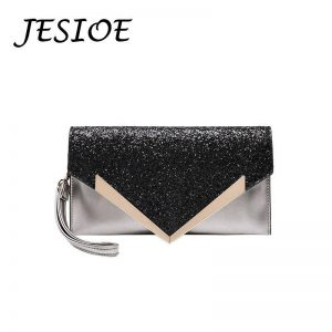 Clutches Sequin Business Envelope Bag Fashion Designer Evening Bags Banquet Handbags Women High Quality Glitter Female Black Bag