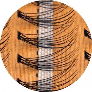 3D False Eyelashes 6-14mm Single Cluster Planting Individual Eyelash Russian Premade Volume Fans Lash Extension Supplies