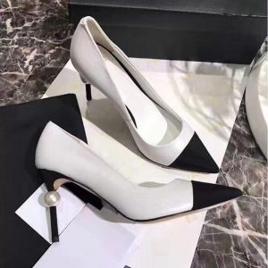 2020 Spring Pointed Toe Pumps Women PU Mixed colors Pearl High Heels Shoes Women Fashion Leisure Ladies Shoes Zapatos De Mujer