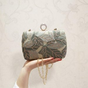 Embroidery Retro Clutch Sequin Evening Bag Fashion Elegant Luxury Glitter Handbag Cross body Call Phone Bag for Women Party