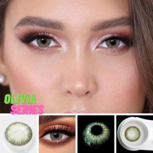 2pcs Olivia Series Colored Contact Lenses Eye Natural Contact Lenses Color Contact Lens for Eye lentes de contacto