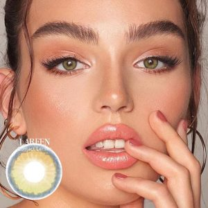 LAREEN 2pcs Colored Contact Lenses Eye Little earth Seriers Year Toss Contact Lenses Color Cosmetic Contact Lens for Eyes