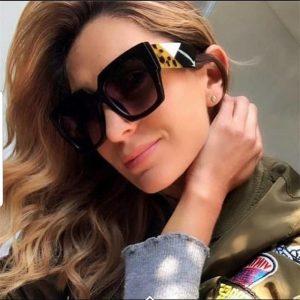 2018 New Oversized Square Sunglasses women Men luxury Brand Designer Sun glasses lady Retro Big frame Gradien Sunglasses UV400