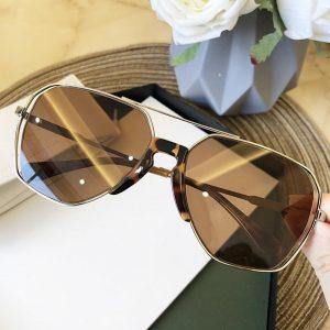 2020 New Fashion Luxury Brand Sunglasses For Women Vintage Alloy Hollow Aviation Sun Glasses Men Metal Pilot Oval Eyewear Big