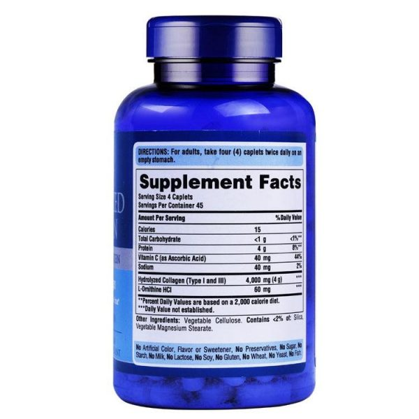 Hydrolyzed Collagen 1000 Mg-180 Caplets Free Shipping