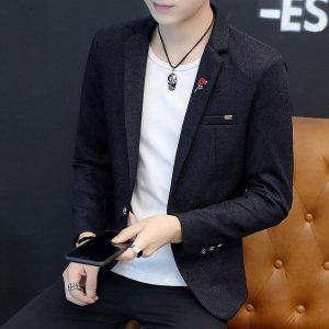 2020 Spring Men Thin Solid Color BLAZER Youth Slim Fit Trend Casual Handsome BLAZER