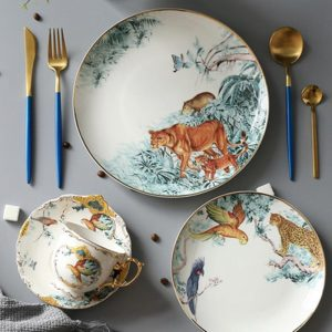 Ceramic Carnets d'Equateur Plates Dishes Bone China Animal Dessert Fruit Snack Plate Home Dinnerware Decoration Free Shipping