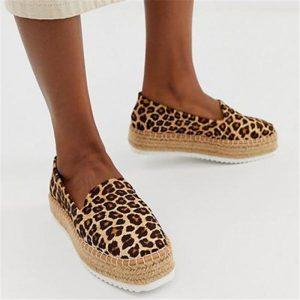 MoneRffi Faux Suede Espadrilles Shoes Slip-on Casual Loafers Women Platform Flats 2019 Ballet Flats Ladies Shoe Zapatos Mujer