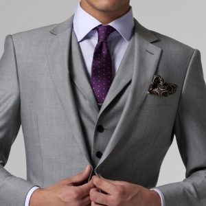 Gray Wedding Tuxedo Custom Made Grey Suits Gray Groom Suit Mens Gray Tuxedo Jacket,2019 Grey Wedding Tuxedos,3 Piece Grey Suit