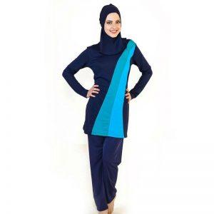 Women Arab Beach Wear Hijab Swimsuits Plus Size Burkinis Full Coverage Modest Muslim Swimwear Islamic Swimsuit For