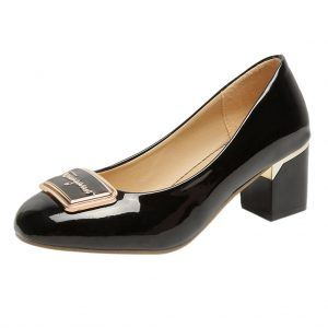 Hot Sale Women Pumps Fashion High Heels Shoes Square Heel Leather Shoes High Quality Women Shoes Elegant Retro Women's Pumps