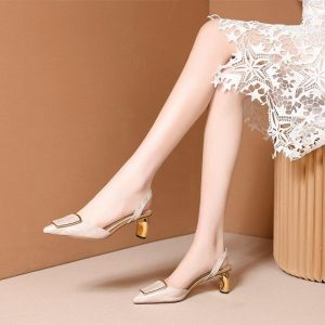 ZVQ 2019 summer new fashion sexy woman shoes handmade sheepskin metal decoration woman sandals outside high heels ladies shoes