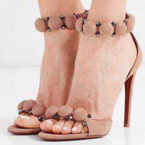 2018 new thin heel women shoes high heels sandals party shoes summer sandals women pumps