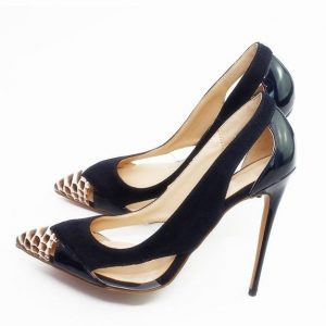 Women Pumps Fashion Pointed Toe Genuine Leather Stiletto High Heels Shoes Spring Summer Wedding Shoes Woman Party Pumps D008A
