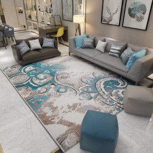 Classical Print European Geometric Carpet For Living Room Bedroom Anti-slip Floor Mat Fashion Kitchen Carpet Area Rugs