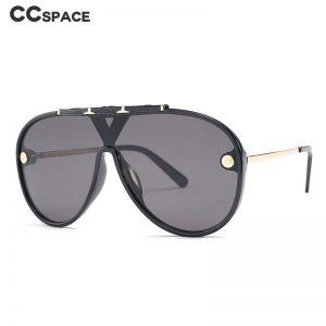 46470 Retro Punk Rivet Sunglasses Men Women Fashion Shades UV400 Vintage Glasses