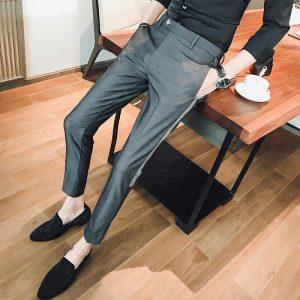 Japan and South Korea tide clothing Korean version of the summer nine pants British style Slim pants 2018 men's casual trousers