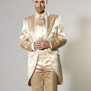 Latest Coat Pant Design Italian Gold Embroidery Satin Men Suit Slim Fit Tuxedo 2 Piece Blazers Custom Groom Prom Terno Masculino