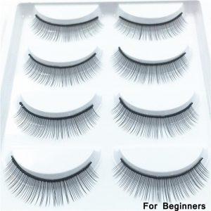 5 Pairs Training Lashes False Eyelashes Handmade for Beginners Practicing Teaching Eyelash Extension Soft Handmade Beauty Lashes